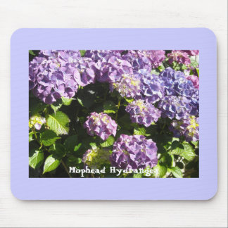 Violet and Purple Hydrangea Mousepad