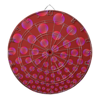 Violet and Red Bubbles Dartboard