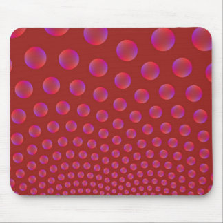Violet and Red Bubbles Mousepad