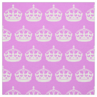 Violet and White Crown Fabric