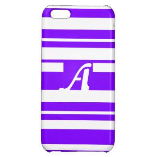 Violet and White Random Stripes Monogram iPhone 5C Cases