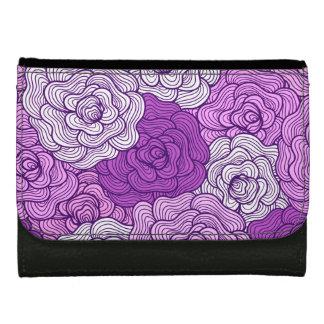 Violet Artistic Floral Pattern Wallet