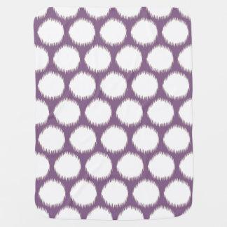 Violet Asian Moods Ikat Dots Baby Blanket