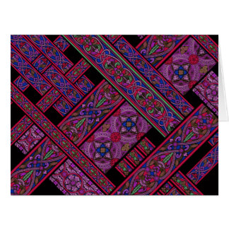 Violet Aurora Stained Glass Big Greeting Card