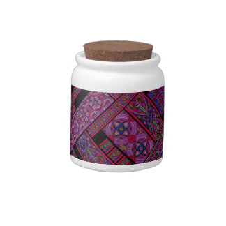 Violet Aurora Stained Glass Candy Jar