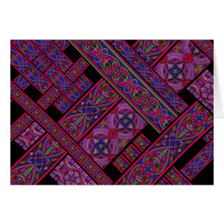 Violet Aurora Stained Glass Greeting Card