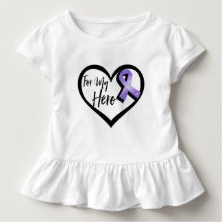 Violet Awareness Ribbon For My Hero T-shirt
