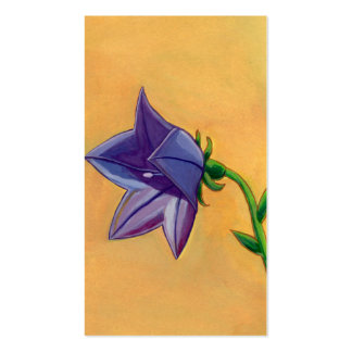 Violet balloon flower gouache painting pretty art business cards