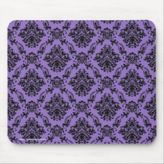Violet Baroque Gothic Victorian Pattern Mousepad