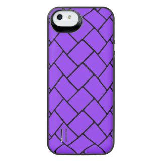 Violet Basket Weave 2 iPhone SE/5/5s Battery Case
