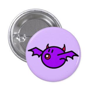 Violet Bat 3 Cm Round Badge