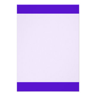 "Violet Blue color 5"" X 7"" Invitation Card"