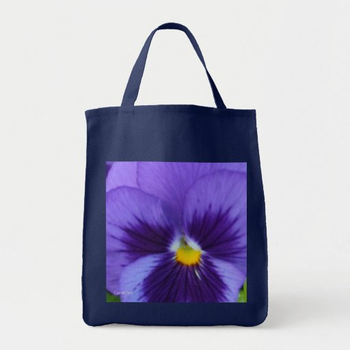 Violet Blue Pansy Canvas Bags