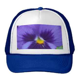 Violet Blue Pansy Mesh Hat