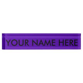 VIOLET BLUE  (solid color) ~ Desk Name Plate
