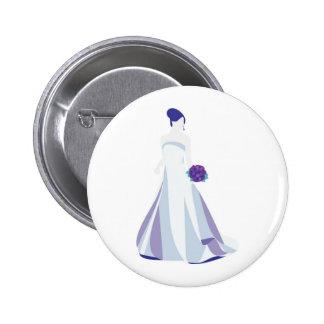 Violet Bouquet Bride 6 Cm Round Badge