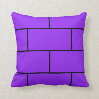 Violet Bricks Throw Pillow