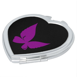 Violet butterfly mirror for makeup