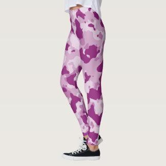 Violet Camouflage Leggings