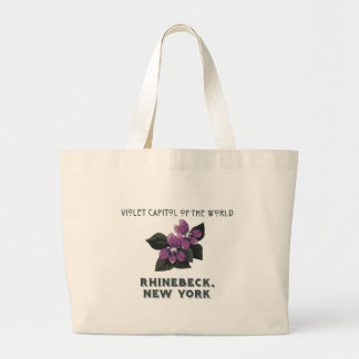 violet capitol of the world rhinebeck large tote bag