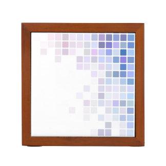 Violet Checkerboard Desk Organiser