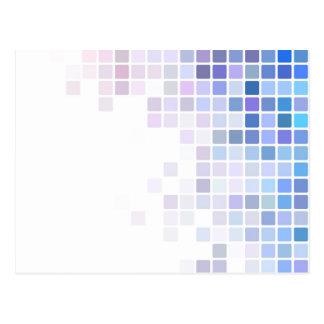 Violet Checkerboard Postcard