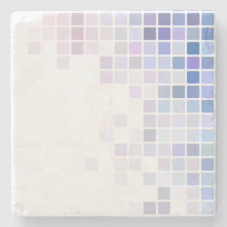 Violet Checkerboard Stone Coaster
