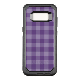 Violet checkered background OtterBox commuter samsung galaxy s8 case