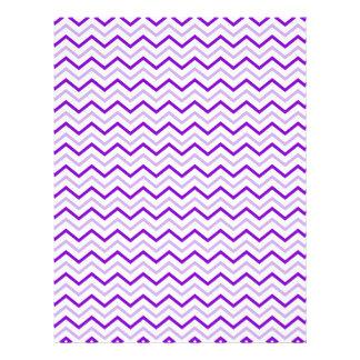 Violet Chevron Zigzag Unique Personalized Flyer