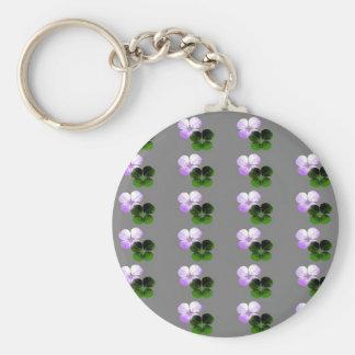 Violet Clover Keychain