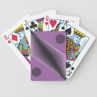 Violet Coruscants Bicycle Playing Cards