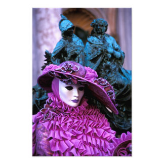 Violet Costume at the Carnival of Venice Photo Art