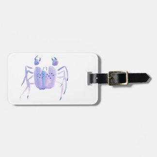 Violet Crab Luggage Tag