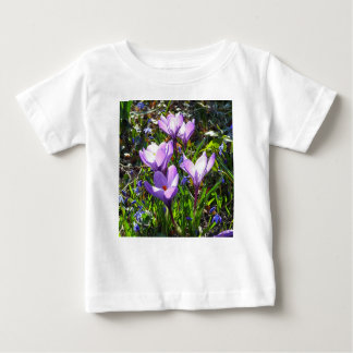 Violet crocuses 02.0, spring greetings baby T-Shirt