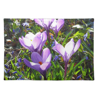 Violet crocuses 02.0, spring greetings placemat
