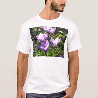 Violet crocuses 02.0, spring greetings T-Shirt
