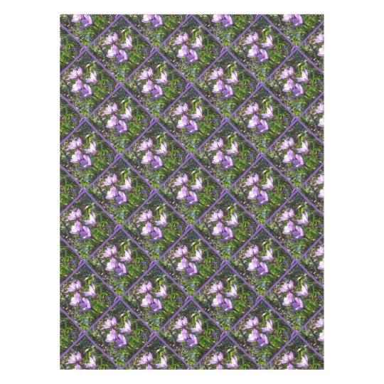 Violet crocuses 2.0, spring greetings tablecloth
