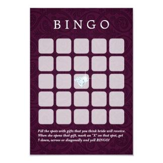 Violet Damask Wedding/Bridal Shower Bingo Cards