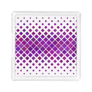 Violet Diamonds Acrylic Tray