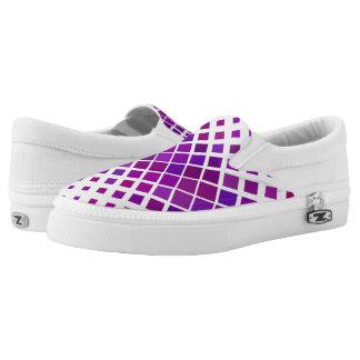 Violet Diamonds Slip-On Shoes