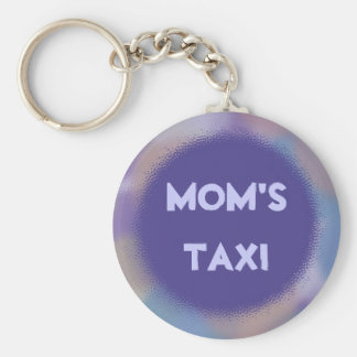 Violet Dots with Personalized Nameplate Key Ring