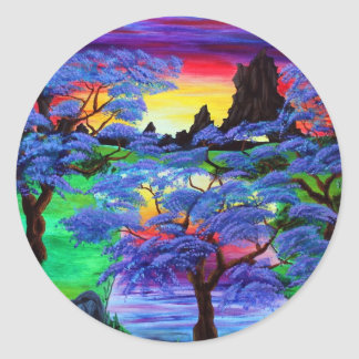 Violet Eden Classic Round Sticker