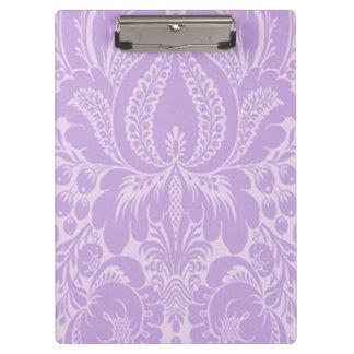 Violet Fantasy Floral Clipboard