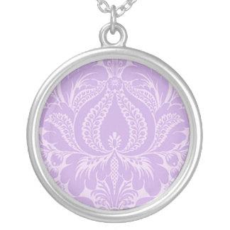 Violet Fantasy Floral Necklace