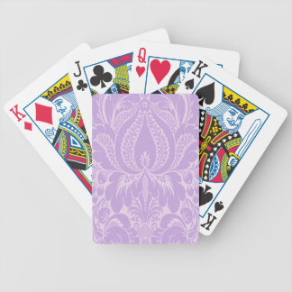 Violet Fantasy Floral Playing Cards