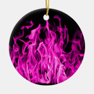 Violet flame and violet fire gifts from St Germain Round Ceramic Decoration