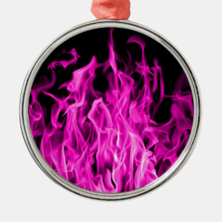 Violet flame and violet fire gifts from St Germain Silver-Colored Round Decoration