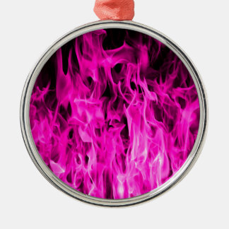 Violet flame and violet fire products and apparel Silver-Colored round decoration