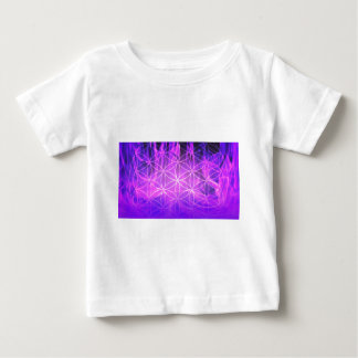 Violet Flame Flower of Life Baby T-Shirt