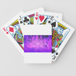 Violet Flame Flower of Life Bicycle Playing Cards